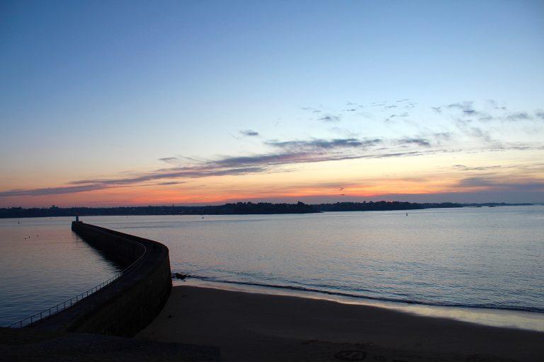 saint malo, sunset